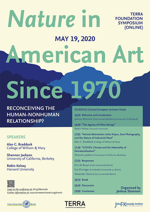 Nature in American Art Since 1970: Reconceiving the Human Non-Human Relationship